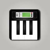 Synthesizer square icon Stock Photos