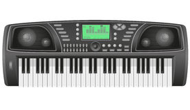 Synthesizer vector illustration. Isolated on white background Royalty Free Stock Images