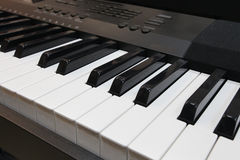 Synthesizerschlüssel Stockfotografie