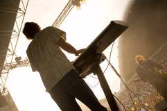 Synthesizerspieler Lizenzfreie Stockbilder