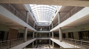 Synthetic Architectural Dome of a huge building. Huge Architectural Dome of a huge building business center in india stock image