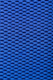 Synthetic blue cloth. grid closeup. macro Stock Photo