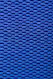 Synthetic blue cloth. grid closeup. macro. Photo Stock Photo