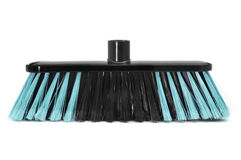 Synthetic bristles broom Royalty Free Stock Photo