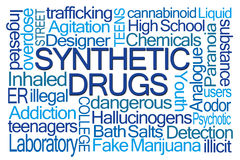 Synthetic Drugs Word Cloud Stock Photography