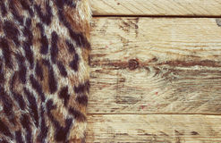 Synthetic fur leopard Stock Image