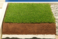Synthetic grass layers Stock Photo