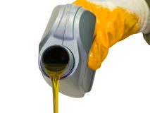 Synthetic motor oil Stock Photo