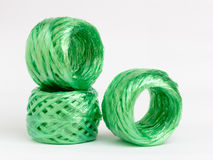 Synthetic raffia rolls Royalty Free Stock Image