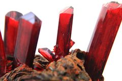 Synthetic red crystal Stock Photography