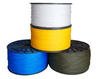 Synthetic rope coils Stock Images