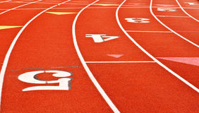 Synthetic running track Royalty Free Stock Photography