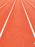 Synthetic running track Stock Image