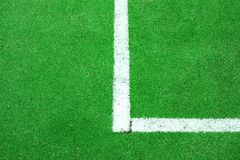 Synthetic Soccer or Footbal Field Royalty Free Stock Photography