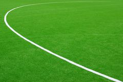 Synthetic Soccer or Footbal Field Royalty Free Stock Images