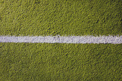 Synthetic sport pitch white mark background Stock Image