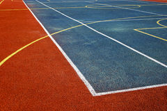 Synthetic sports field 2 stock image