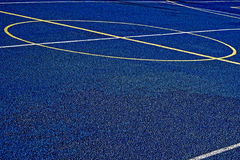 Synthetic sports field 25. Sports field with synthetic turf and different markings, used in sports.Detail Stock Image