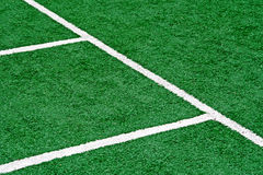 Synthetic sports field 35. Sports field with synthetic turf and different markings, used in sports.Detail Royalty Free Stock Photography