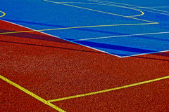 Synthetic sports field 9 Royalty Free Stock Photo