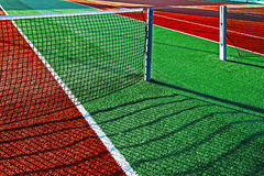 Synthetic sports field for tennis 10 Stock Images
