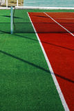 Synthetic sports field for tennis 6 Stock Images