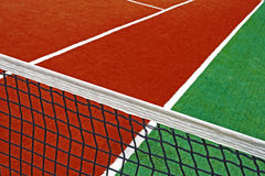 Synthetic sports field for tennis 16 Royalty Free Stock Photo