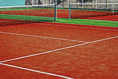 Synthetic sports field for tennis 17 Stock Photography