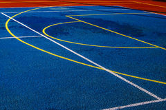 Synthetic sports field 4 Stock Photo