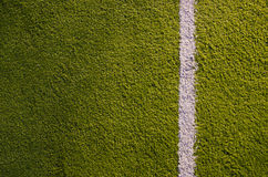 Synthetic sports grounds coating marking line Stock Images