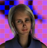 Synthetic Woman. A synthetic 3D image of a woman Stock Photos