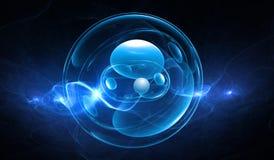 Synthetische cellenachtergrond Royalty-vrije Stock Afbeelding