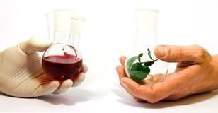 Synthetische en natuurlijke chemie Royalty-vrije Stock Afbeelding