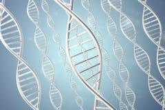 Synthetische, kunstmatige DNA-molecule, het concept kunstmatige intelligentie het 3d teruggeven Stock Fotografie