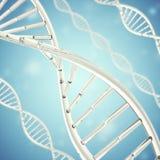 Synthetisches, künstliches DNA-Molekül, das Konzept der künstlichen Intelligenz Wiedergabe 3d Stockbilder