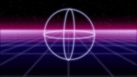 Synthwave kształtuje na Retro tle 3d odpłaca się ilustracja wektor