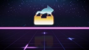 synthwave retro design icon of archive vector illustration