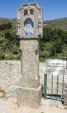 Synvinkel av Aliminas (små anda) i Castelo Novo, Beira Baixa, Portugal Arkivfoton