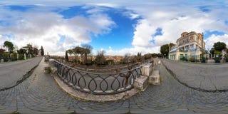 Synvinkel av Rome från den Viale belvederen royaltyfri fotografi
