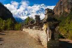Synvinkel för morgon för landskapbergnatur Trekking landskapbakgrund för berg Inget foto HorisontalAsien Royaltyfri Foto