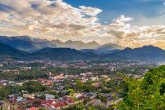Synvinkel och härligt landskap i luangprabang, Laos Royaltyfria Foton