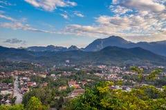 Synvinkel och härligt landskap i luangprabang, Laos Royaltyfri Foto