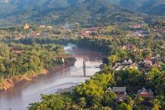 Synvinkel och landskap i luangprabang Royaltyfria Foton