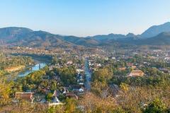 Synvinkel och landskap i luangprabang, Laos Royaltyfria Foton