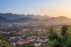 Synvinkel och landskap på luangprabang Fotografering för Bildbyråer