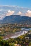 Synvinkel och landskap på luangprabang Royaltyfri Fotografi