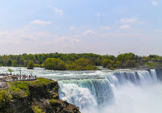 Synvinkel på Niagara Falls Royaltyfri Bild