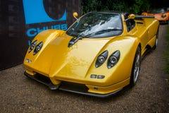 Syon公园,伦敦沙龙Prive超级体育汽车展示Ferarri, Zonda, BMW,弯, Bugatti,制表人,莲花,阿尔法 免版税图库摄影