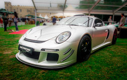 Syon Park, London Salon Prive Super Sports motor car show Ferarri, Zonda, BMW, Bently, Bugatti, Lister, Lotus, Alfa Royalty Free Stock Photography