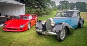 Syon Park, London Salon Prive Super Sports motor car show Ferarri, Zonda, BMW, Bently, Bugatti, Lister, Lotus, Alfa Royalty Free Stock Photos